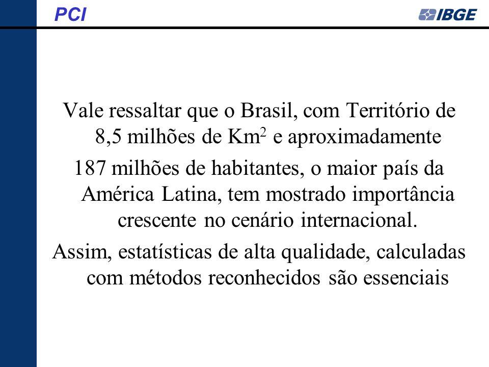 Vale ressaltar que o Brasil, com Território de 8,5 milhões de Km 2 e aproximadamente 187 milhões de habitantes, o maior país da América Latina, tem mo