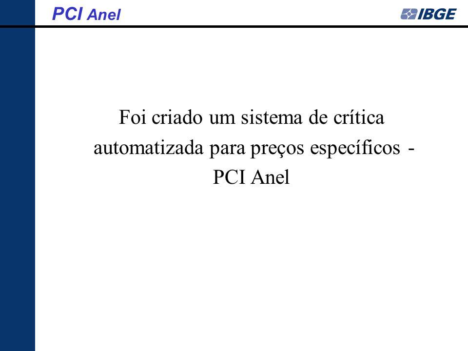 Foi criado um sistema de crítica automatizada para preços específicos - PCI Anel