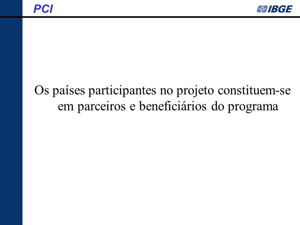 Os países participantes no projeto constituem-se em parceiros e beneficiários do programa PCI