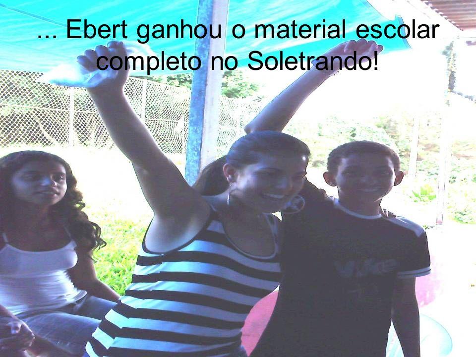 ... Ebert ganhou o material escolar completo no Soletrando!