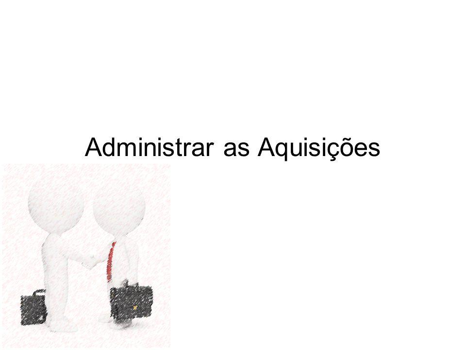 Administrar as Aquisições