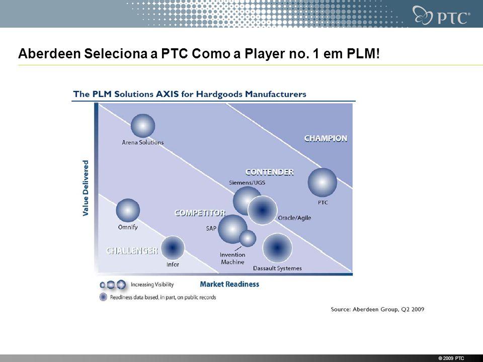 Aberdeen Seleciona a PTC Como a Player no. 1 em PLM! © 2009 PTC