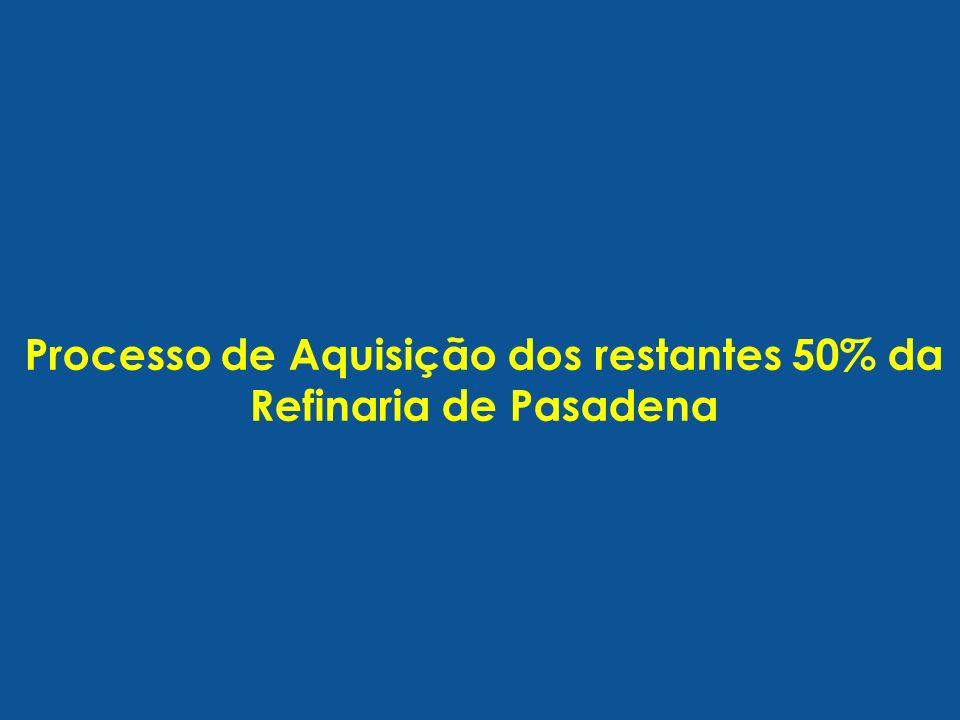 Processo de Aquisição dos restantes 50% da Refinaria de Pasadena