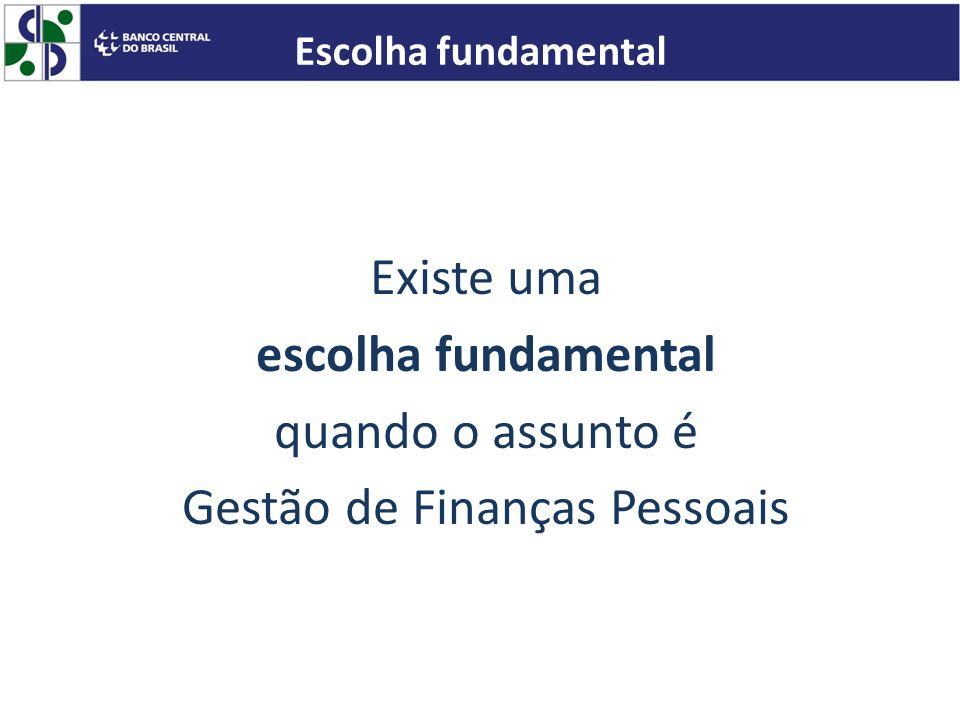 Existe uma escolha fundamental quando o assunto é Gestão de Finanças Pessoais Escolha fundamental
