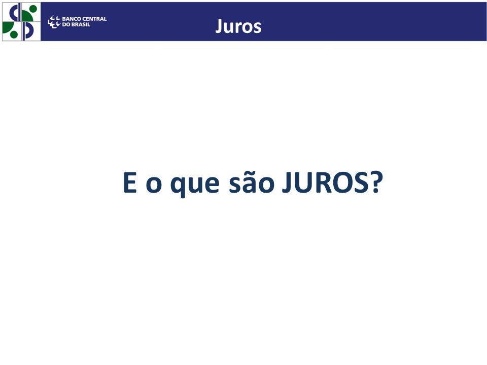 E o que são JUROS? Juros