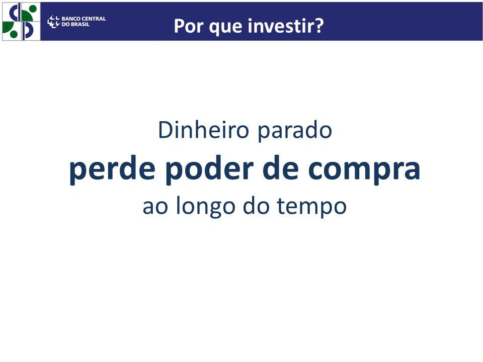 Dinheiro parado perde poder de compra ao longo do tempo Por que investir?
