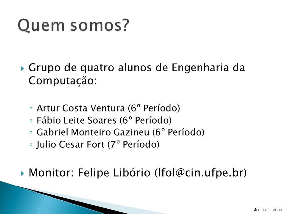 Grupo de quatro alunos de Engenharia da Computação: Artur Costa Ventura (6º Período) Fábio Leite Soares (6º Período) Gabriel Monteiro Gazineu (6º Perí
