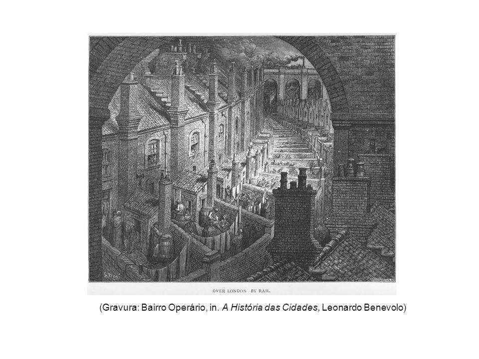 (Gravura: Bairro Operário, in. A História das Cidades, Leonardo Benevolo)