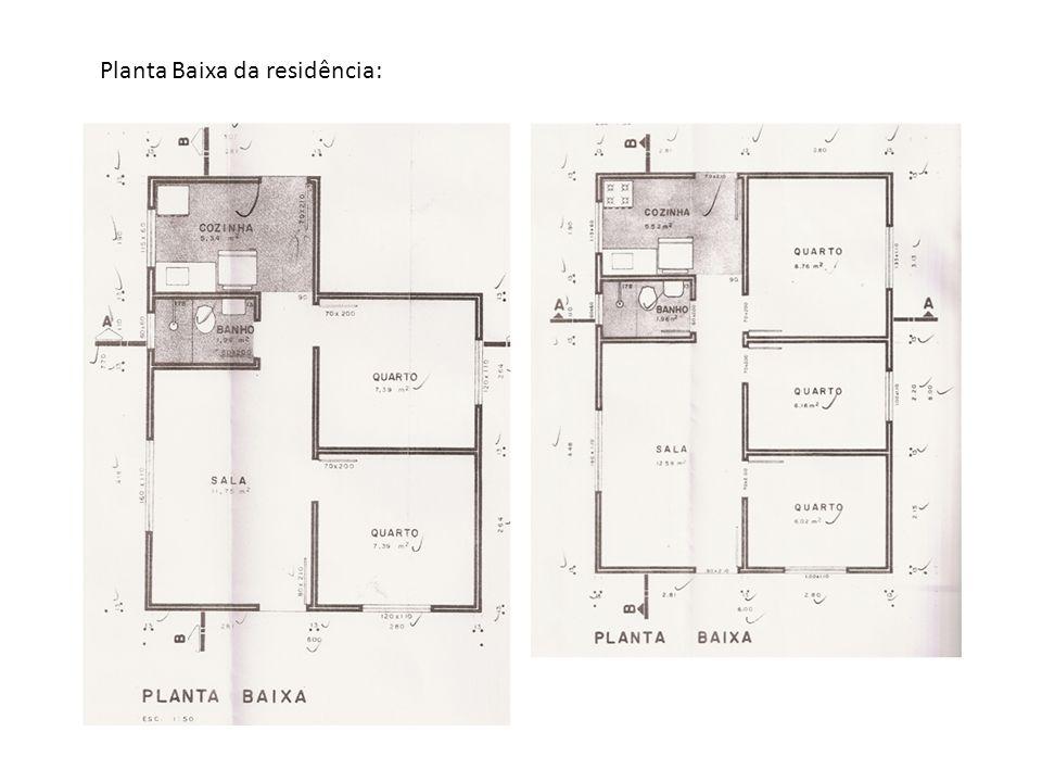 Planta Baixa da residência: