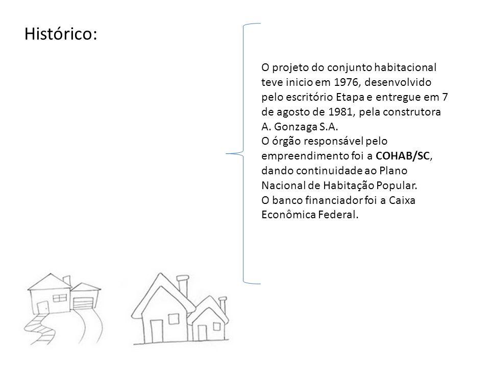 O projeto do conjunto habitacional teve inicio em 1976, desenvolvido pelo escritório Etapa e entregue em 7 de agosto de 1981, pela construtora A. Gonz