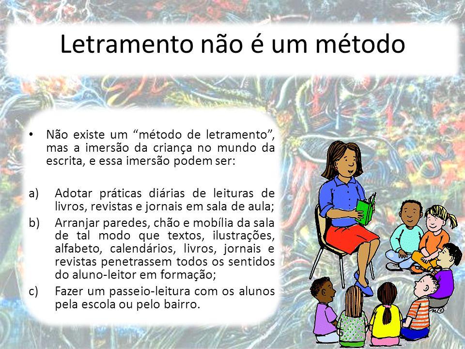 6 Letramento não é alfabetização Trata-se de dois conceitos diferentes, mas que estão associados, uma vez que a alfabetização é uma das práticas de letramento que faz parte do conjunto de práticas sociais de uso da escrita da instituição escolar.