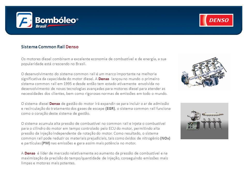 Sistema Common Rail Denso Os motores diesel combinam a excelente economia de combustível e de energia, a sua popularidade está crescendo no Brasil. O