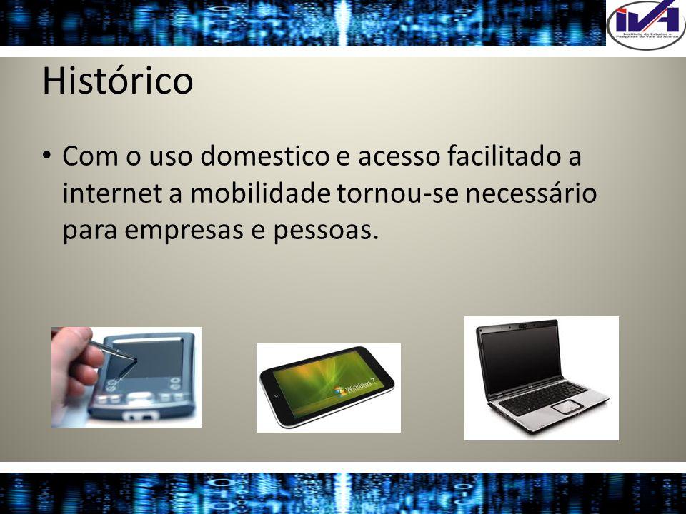 Histórico Com o uso domestico e acesso facilitado a internet a mobilidade tornou-se necessário para empresas e pessoas.