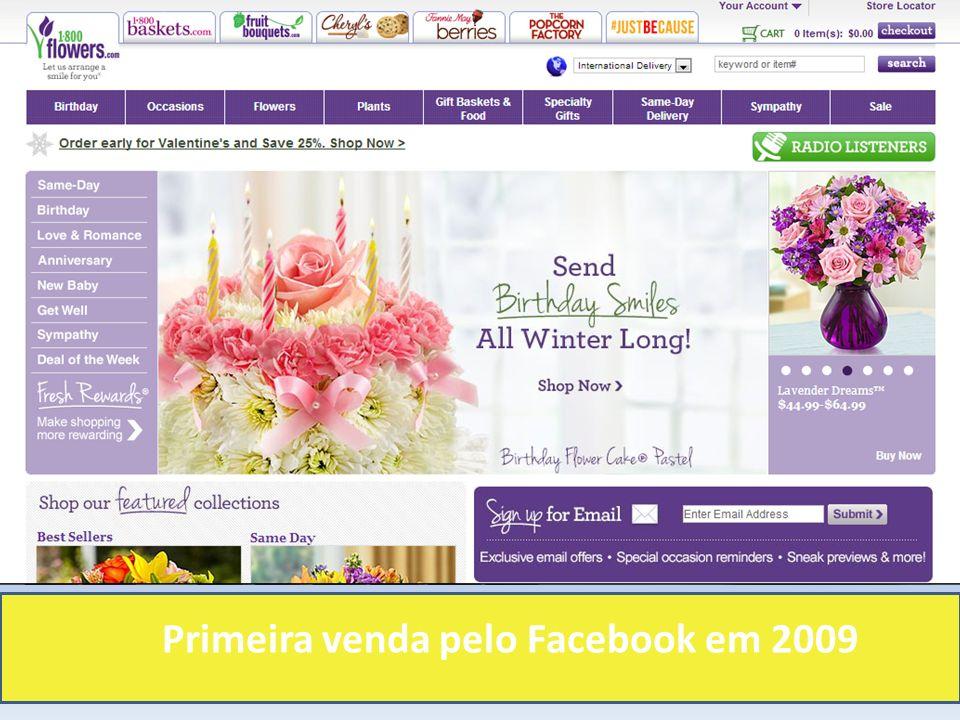 Primeira venda pelo Facebook em 2009