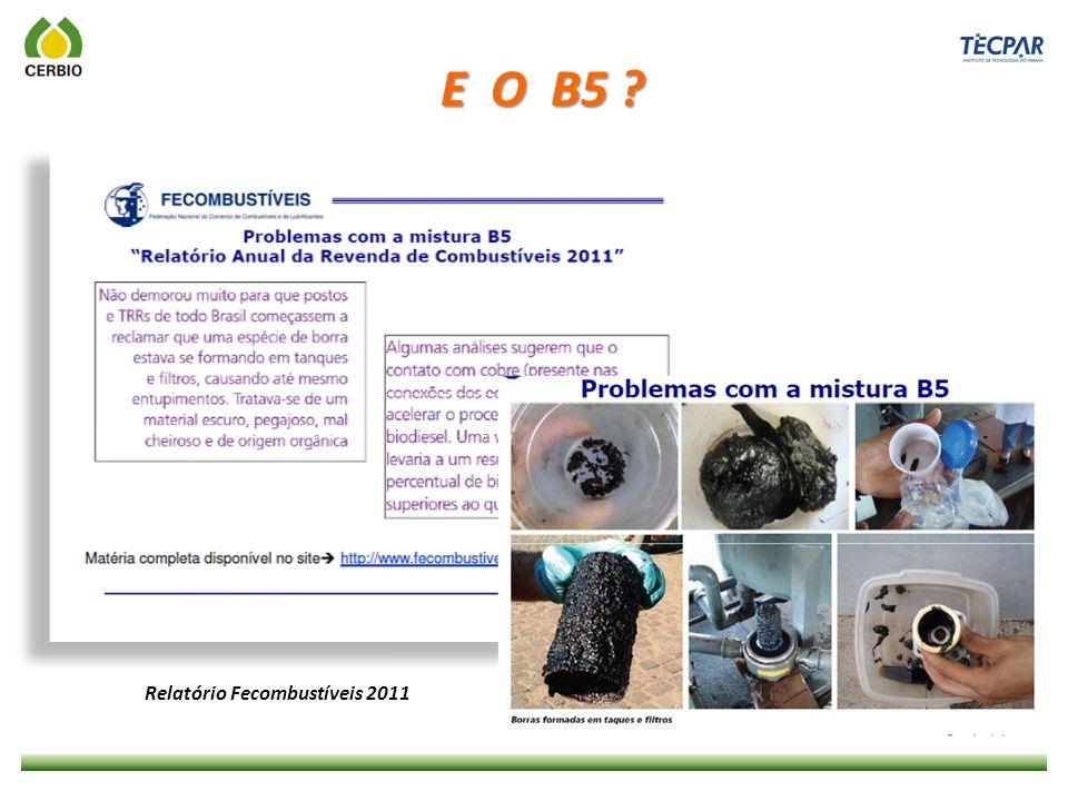 E O B5 ? Relatório Fecombustíveis 2011