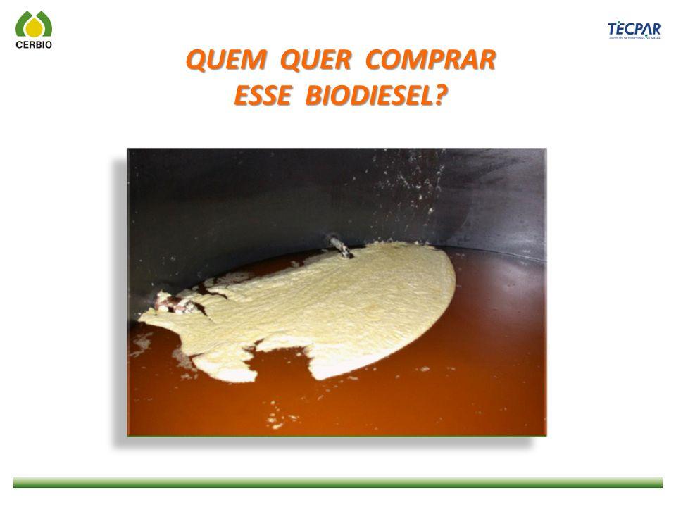O BIODIESEL É UM ÓTIMO COMBUSTÍVEL MAS...