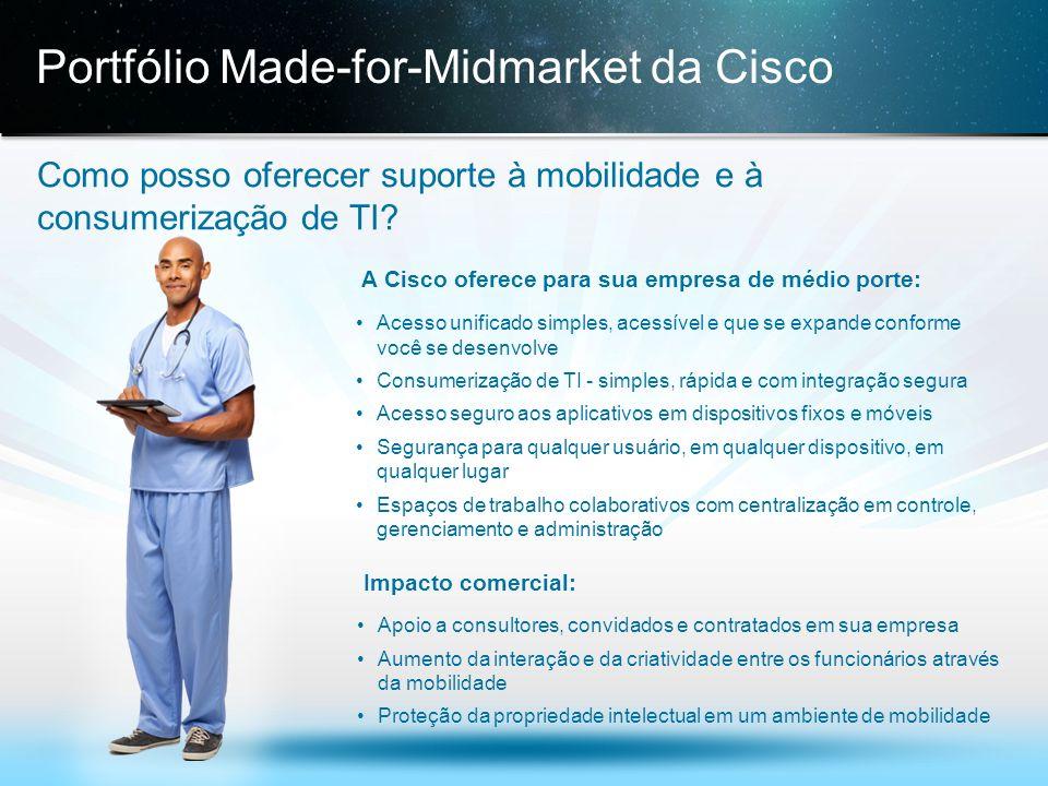 © 2013 Cisco e/ou suas afiliadas. Todos os direitos reservados. Confidencial da Cisco 16 Portfólio Made-for-Midmarket da Cisco Como posso oferecer sup