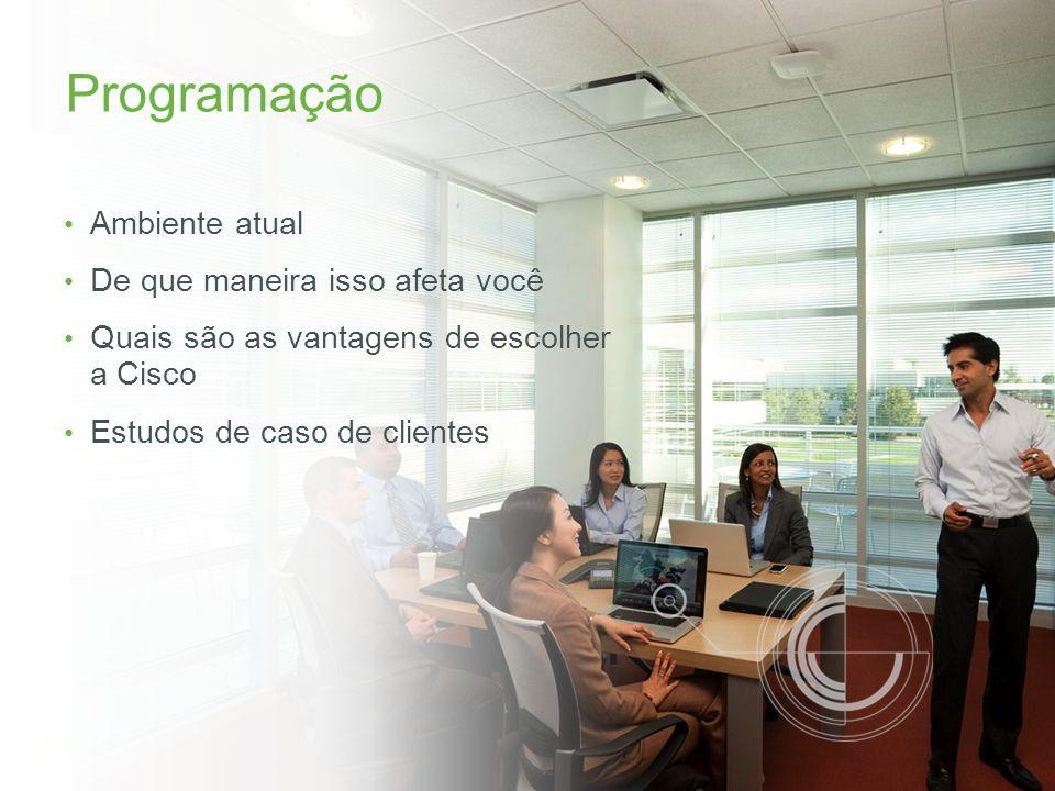 © 2013 Cisco e/ou suas afiliadas. Todos os direitos reservados. Confidencial da Cisco 2 Programação Ambiente atual De que maneira isso afeta você Quai