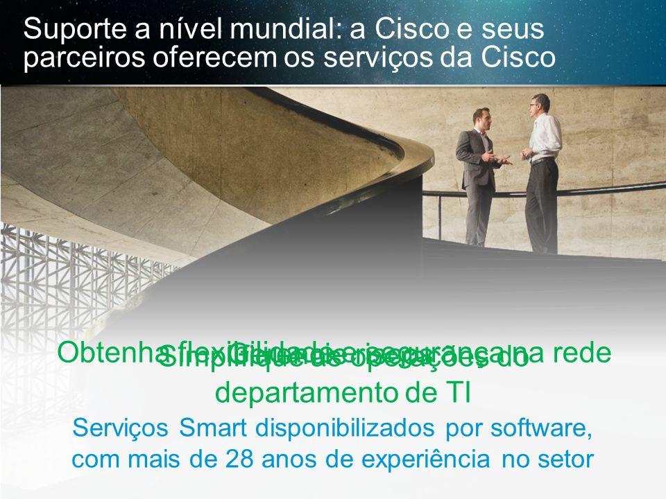 © 2013 Cisco e/ou suas afiliadas. Todos os direitos reservados. Confidencial da Cisco 21 Suporte a nível mundial: a Cisco e seus parceiros oferecem os