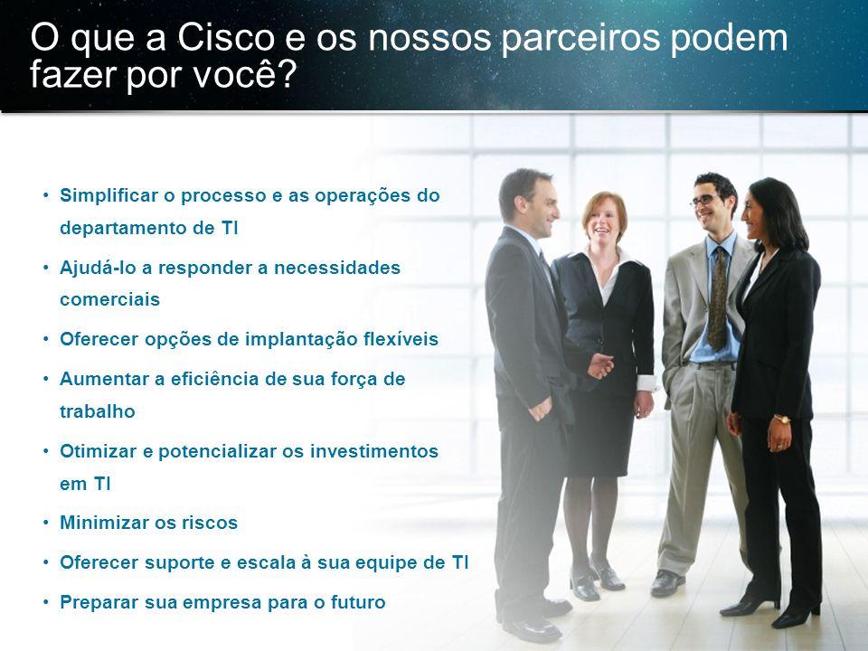 © 2013 Cisco e/ou suas afiliadas. Todos os direitos reservados. Confidencial da Cisco 36 O que a Cisco e os nossos parceiros podem fazer por você? Sim