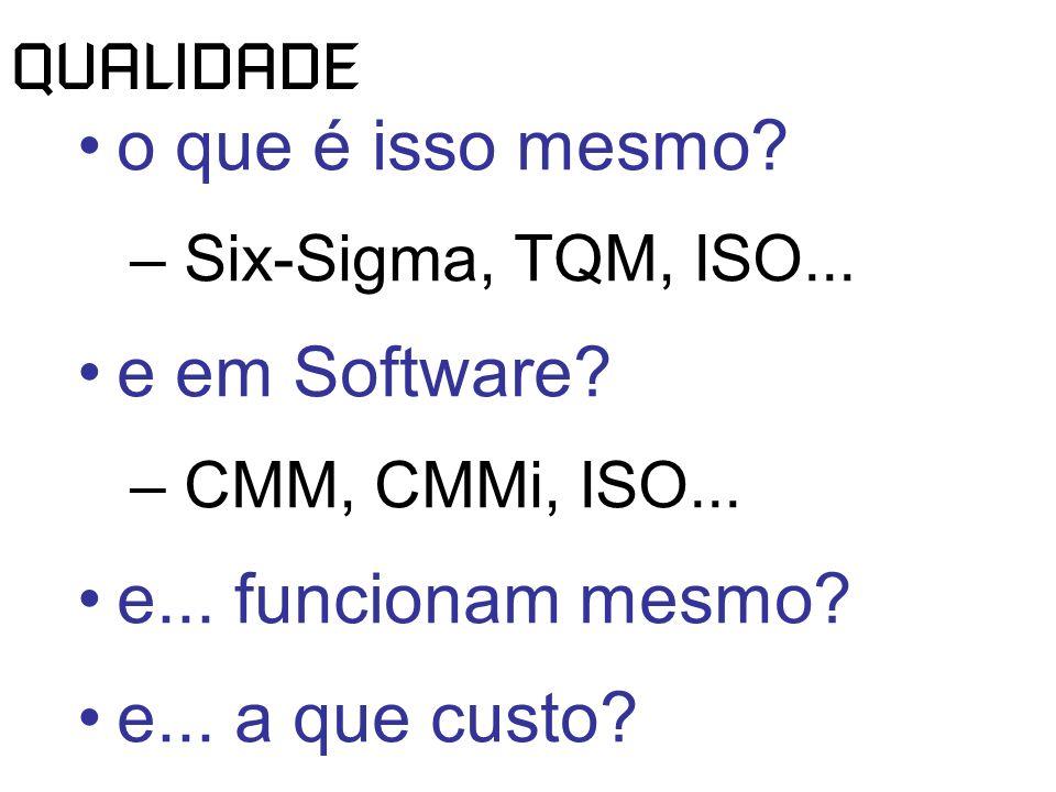 QUALIDADE o que é isso mesmo. – Six-Sigma, TQM, ISO...