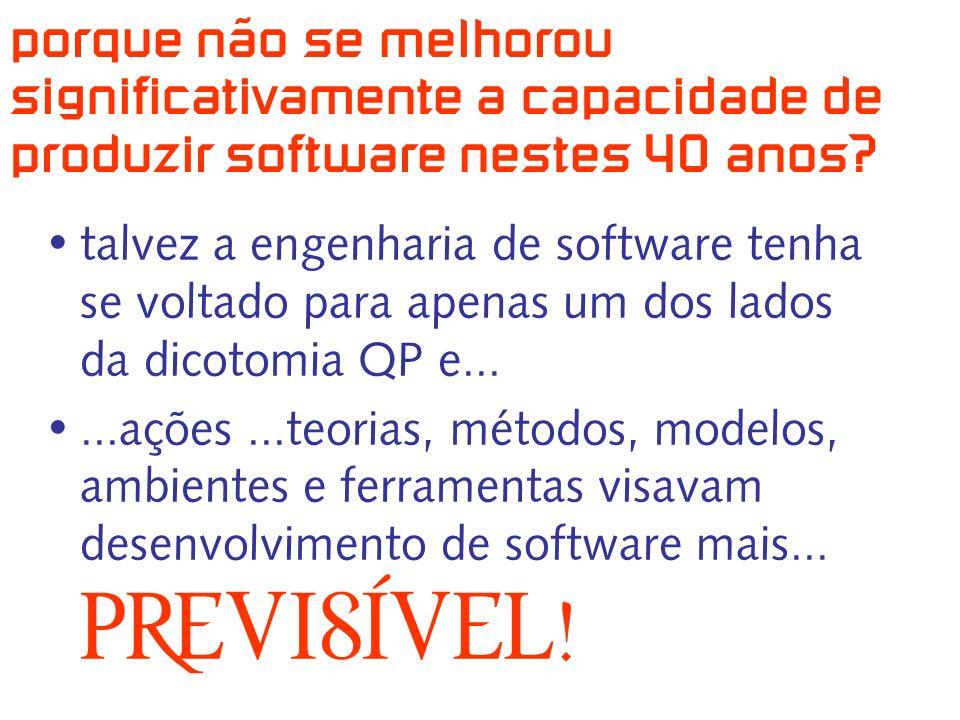 porque não se melhorou significativamente a capacidade de produzir software nestes 40 anos.