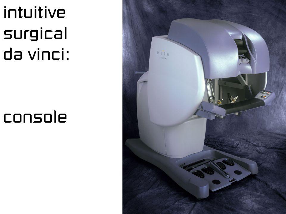 intuitive surgical da vinci: console