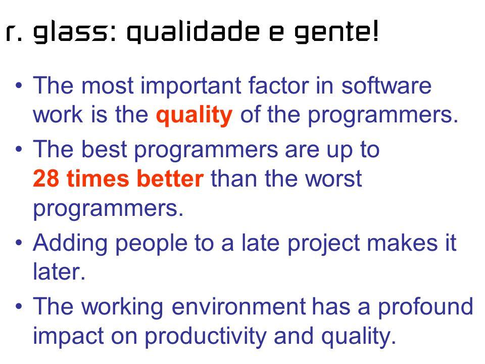 r. glass: qualidade e gente.