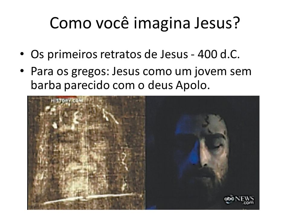 Como você imagina Jesus.Os primeiros retratos de Jesus - 400 d.C.