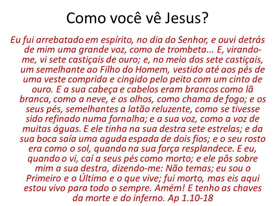 Como você vê Jesus.