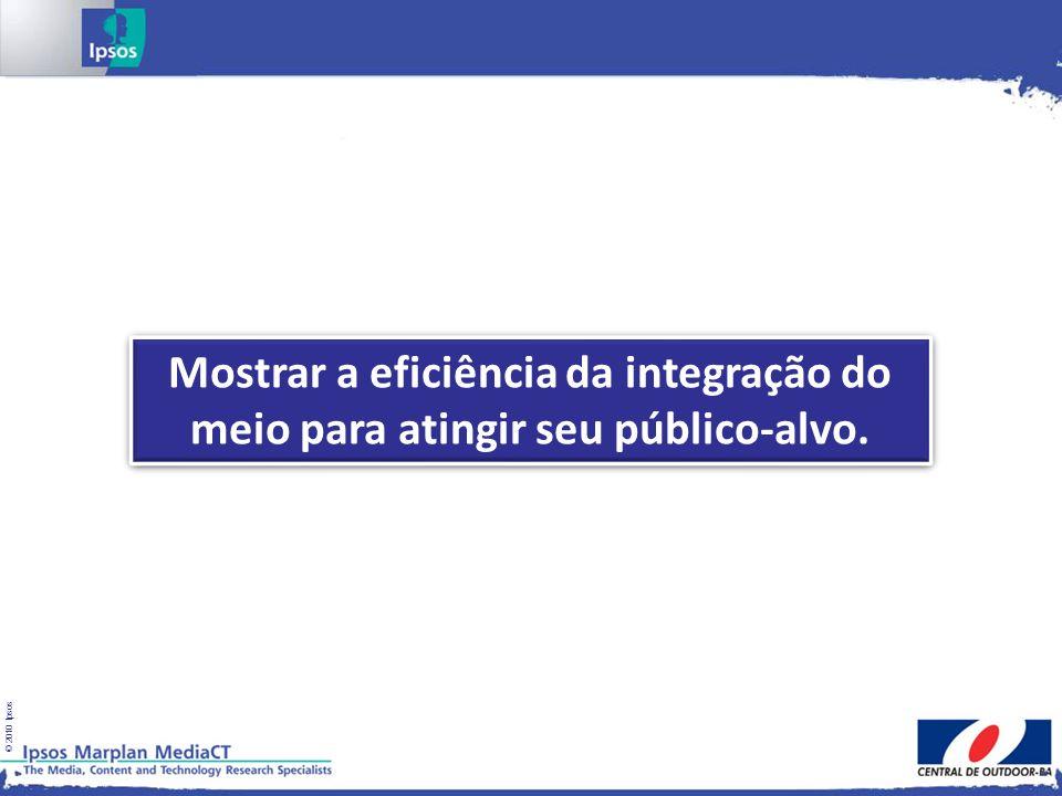 © 2010 Ipsos Mostrar a eficiência da integração do meio para atingir seu público-alvo.