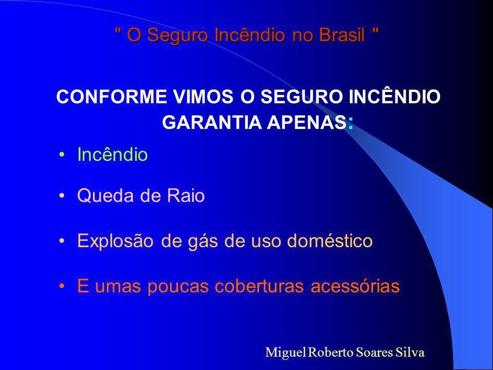 Miguel Roberto Soares Silva O Seguro Incêndio no Brasil Parte V Como ficou o Seguro Incêndio no Brasil