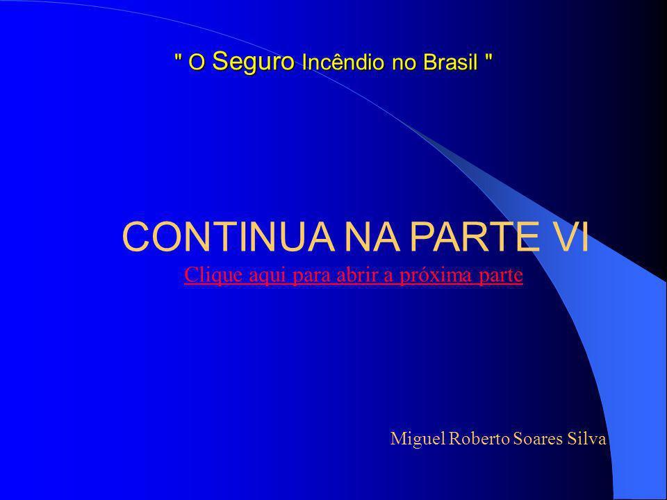 SEGURADORAS A B C D Fábrica de Artigos de Borracha sem emprego de inflamáveis Valor em Risco = 221.500.000,00 – LMI = 73.500.000,00 PRÊMIOS R$ 244.168,49 R$ 360.237,36 R$ 482.877,48 R$ 751.711,53 Miguel Roberto Soares Silva O Seguro Incêndio no Brasil E, F, G, H, e I Declinaram o risco