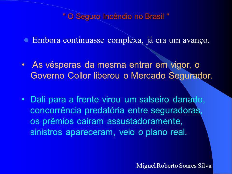 Miguel Roberto Soares Silva O Seguro Incêndio no Brasil