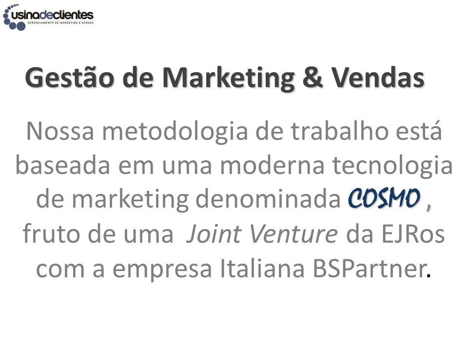 COSMO, Nossa metodologia de trabalho está baseada em uma moderna tecnologia de marketing denominada COSMO, fruto de uma Joint Venture da EJRos com a e