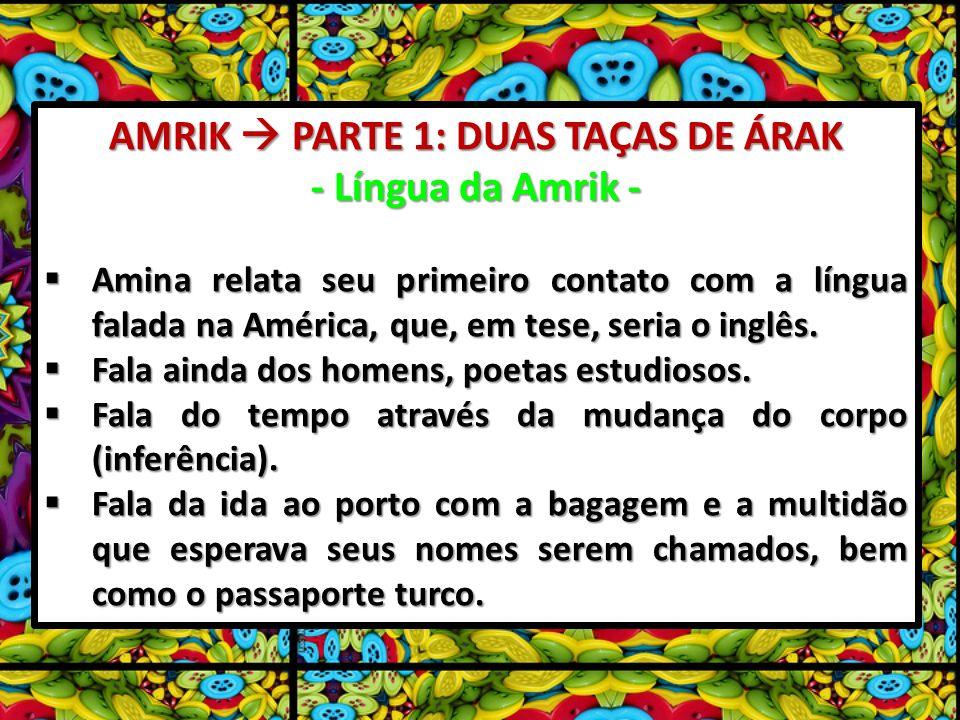 AMRIK PARTE 1: DUAS TAÇAS DE ÁRAK - Língua da Amrik - Amina relata seu primeiro contato com a língua falada na América, que, em tese, seria o inglês.