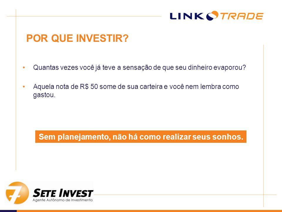 –Cotas Quando aplicamos recursos em um fundo, compramos cotas, ou seja, viramos um cotista São essas cotas que valorizam (ou desvalorizam) diariamente O cotista só aumentará o número de cotas que possui ao aplicar novos recursos Tipos de Investimentos Fundos de Investimento EXEMPLO: No dia 15/maio/2008 o valor da cota do LINK PRIVATE FIC era de: R$ 1,4381 por cota.