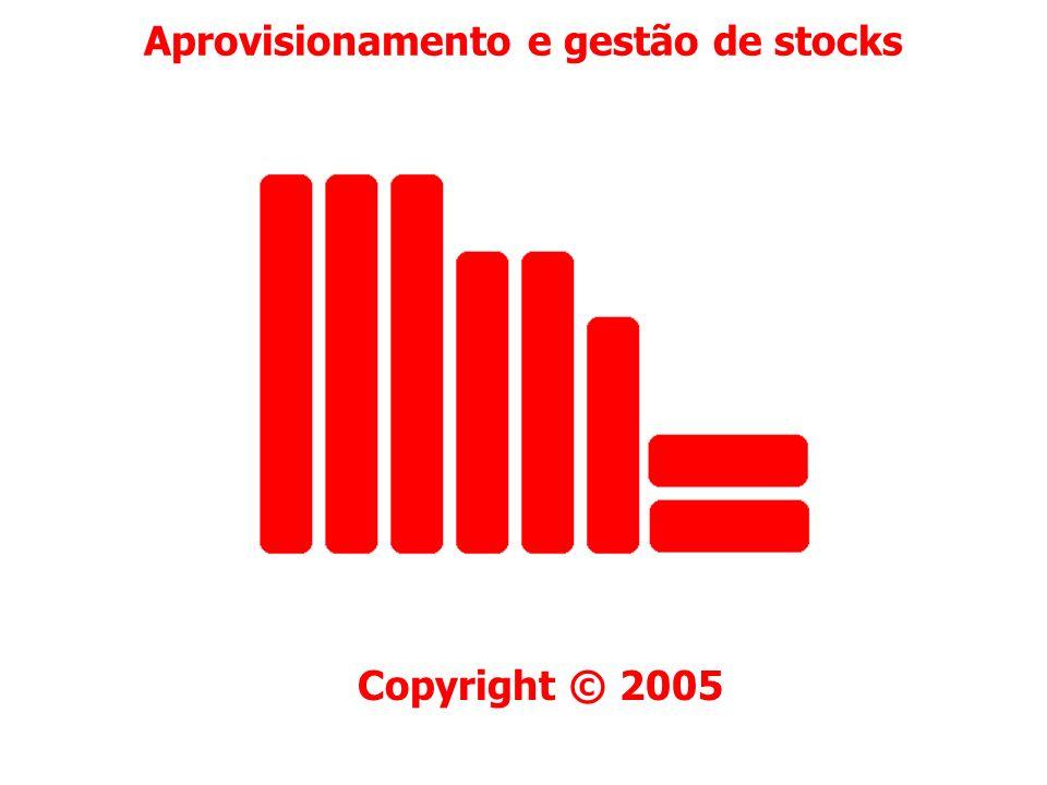 Aprovisionamento e gestão de stocks Previsão de vendas ou consumos Pág. 72