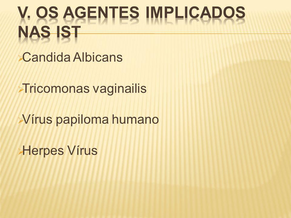 Candida Albicans Tricomonas vaginailis Vírus papiloma humano Herpes Vírus