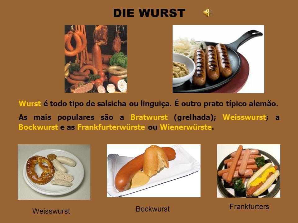DAS SAUERKRAUT Ok. É estranho comer isso no café da manhã, mas é um prato típico alemão. Eles geralmente comem quente como acompanhamento de batatas e
