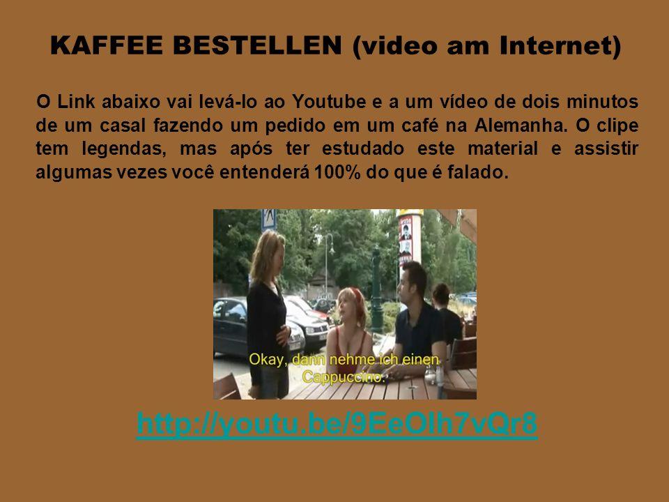KELLNER EXPLICADINHO - Guten Tag, ich hätte gern einen Kaffee, bitte. - Kaffee, Cappuccino, Latte Macchiato oder Espresso? - Hmm, Kaffee, bitte. - Nor