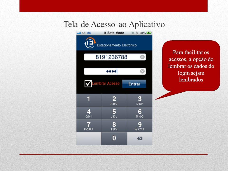 Tela de Acesso ao Aplicativo Indicador de conexão mostra o andamento