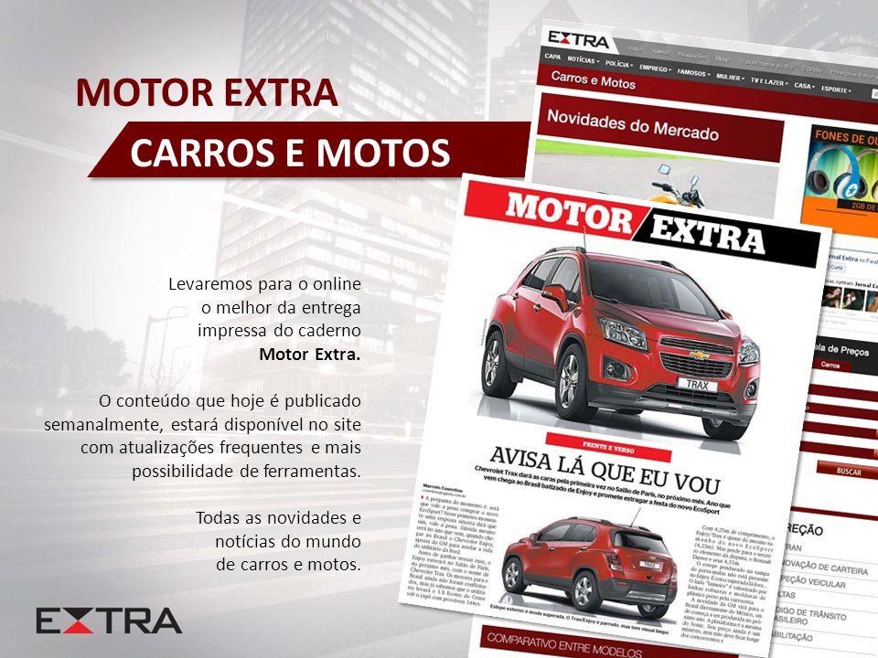 Levaremos para o online o melhor da entrega impressa do caderno Motor Extra. O conteúdo que hoje é publicado semanalmente, estará disponível no site c