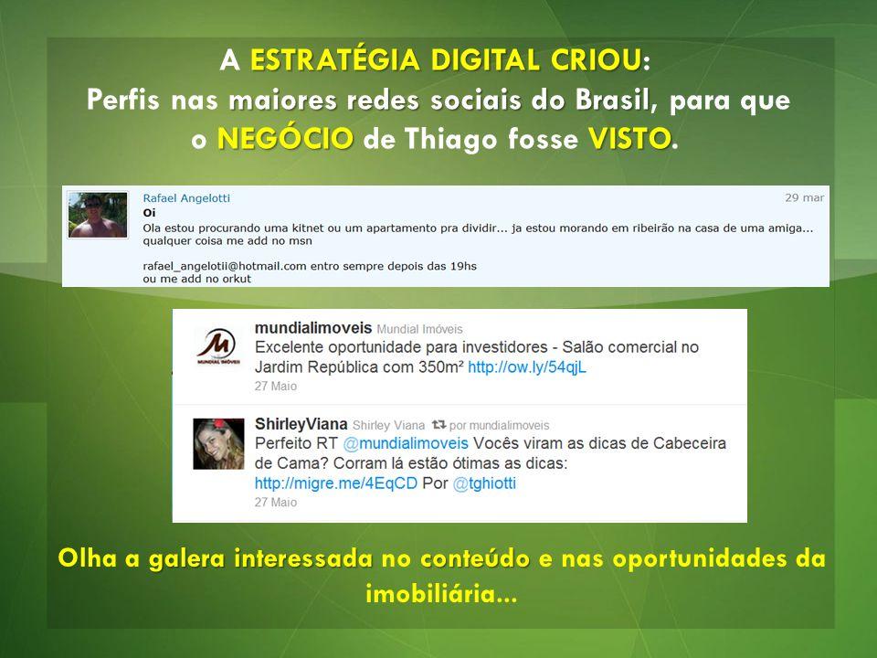 ESTRATÉGIA DIGITAL CRIOU A ESTRATÉGIA DIGITAL CRIOU: maiores redes sociais do Brasil NEGÓCIO VISTO Perfis nas maiores redes sociais do Brasil, para qu