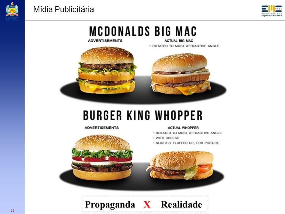 16 Mídia Publicitária Propaganda X Realidade