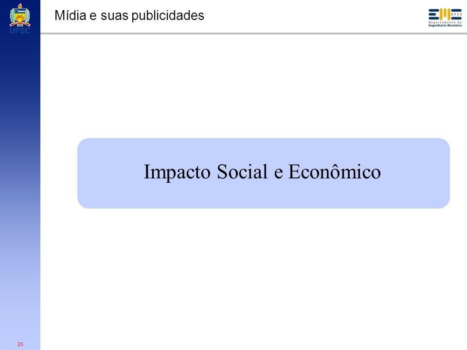 26 Mídia e suas publicidades Impacto Social e Econômico