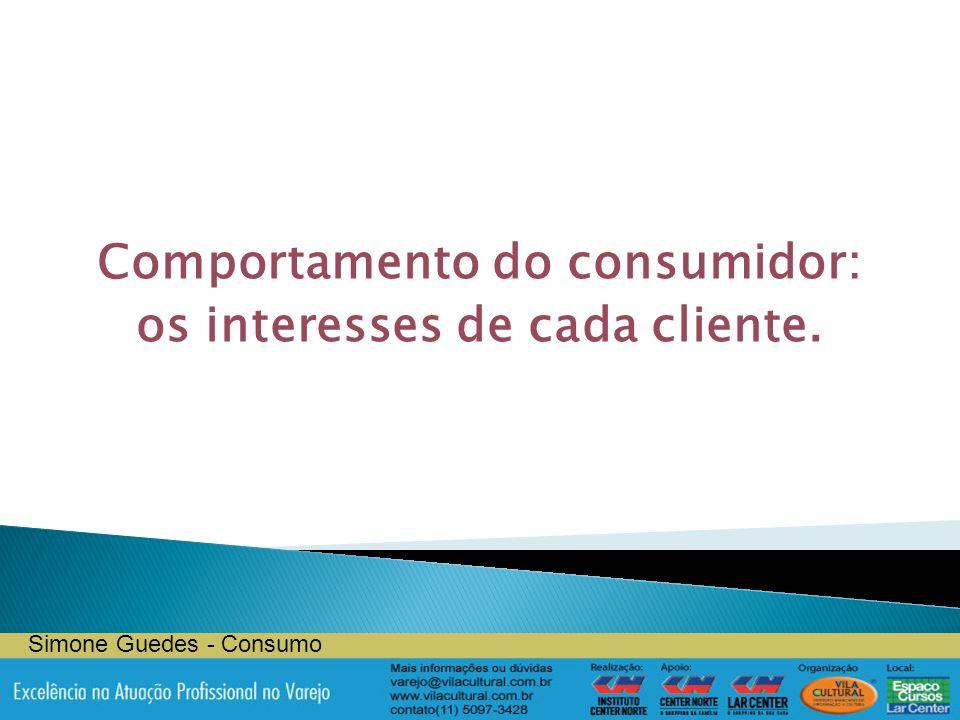 Comportamento do consumidor: os interesses de cada cliente. Simone Guedes - Consumo