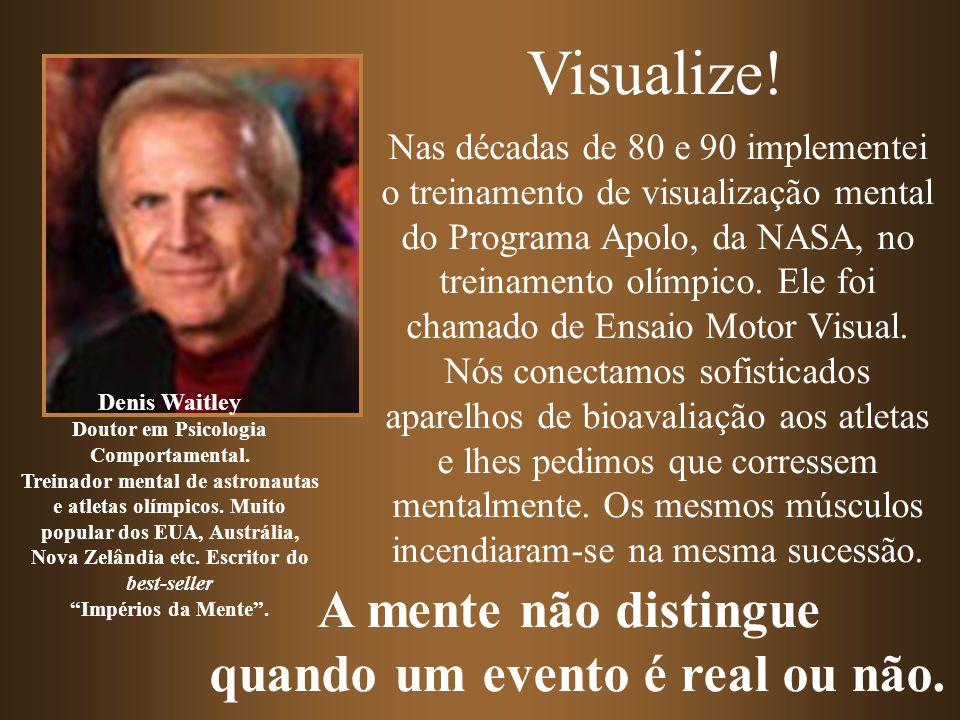 Nas décadas de 80 e 90 implementei o treinamento de visualização mental do Programa Apolo, da NASA, no treinamento olímpico. Ele foi chamado de Ensaio