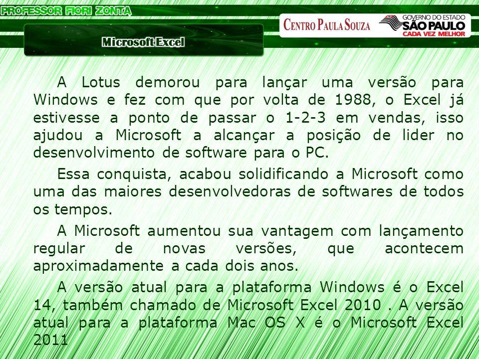 A Lotus demorou para lançar uma versão para Windows e fez com que por volta de 1988, o Excel já estivesse a ponto de passar o 1-2-3 em vendas, isso aj