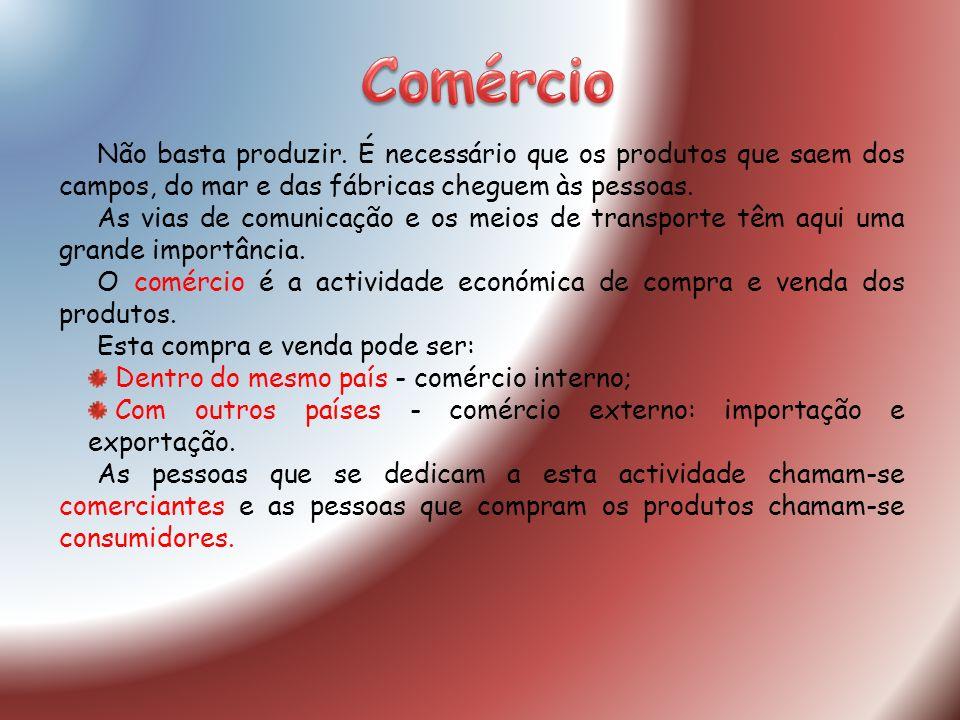 Comércio Estabelecimentos comerciais (lojas) Feiras Mercados Hipermercados Centros Comerciais Pode realizar-se em